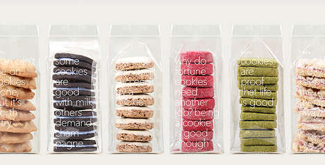 Practically Open Packaging - Fruute Cookies are Wrapped Up in Thin Pieces of Transparent Plastic
