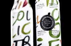 Colorful Hand-Scrawled Branding - Valtida Piccola Olive Oil Packaging Highlights Handmade Production
