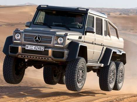 Six-Wheeled Luxury Rovers - Go Off the Road in Style with the Mercedes-Benz G63 AMG 6x6