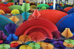 Ocean of Flowers by Li Hongbo is Inspired by Chinese Festival Decor
