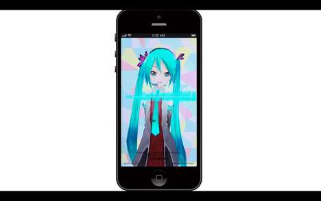 Pizza-Ordering Anime Apps - This Domino's Pizza App Utilizes a Popular Japanese Anime Character