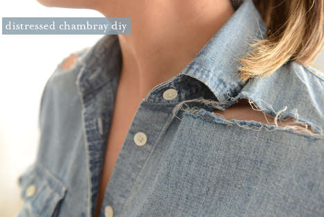 Distressed Chambray