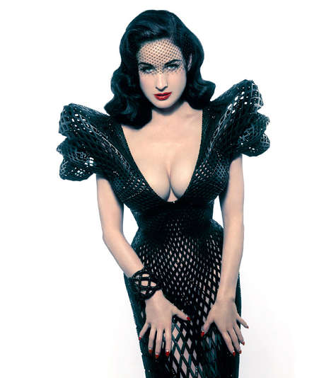 Digitalized 3D Dresses - The Dita Von Teese 3D Dress was Created Specially for the Model