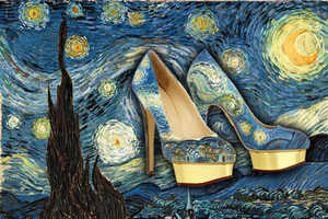 These Arty Shoes by Boyarde Messenger Recreate Famous Paintings