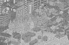 Sophisticated Linear Landscape Illustrations