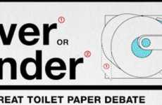 Bathroom Tissue Debate Charts - 'Over or Under' Looks at the Statistics Behind Toilet Paper Styles