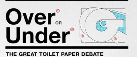 Bathroom Tissue Debate Charts -