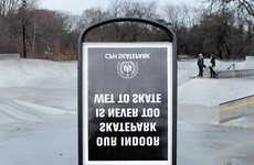 Cleverly Inverted Urban Ads - This Street Ad by Mikkel Møller Targets its Market Via Reflection