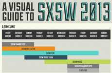 Comprehensive Media Festival Guides  - This SXSW 2013 Schedule Infographic is an Easy-to-Read Chart