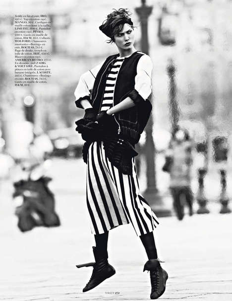 Parisian Tomboy Editorials - The Miss Vogue: Street Dance Photoshoot is Effortlessly Elegant