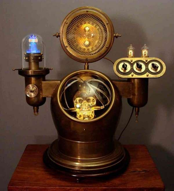 Steampunk-Inspired Lamps