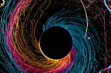 Fabian Oefner Captures Paint Splatter in Action in 'Black Hole'
