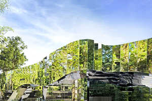 The Cairns Botanic Gardens Visitors Centre is Mirror-Clad