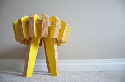 Asterisk Stool by Christina Sicoli