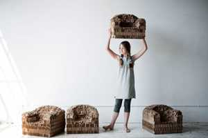 The Rip and Tatter Chair by Pete Oyler is Made Entirely of Cardboard
