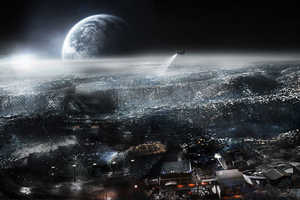 Joseph Cross' Earth Rise Concept Gives a Glimpse into Futuristic Lunar Life