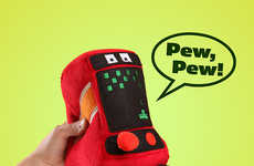 Retro Arcade Plush Toys - This Plushie is Modeled After Old School Video Game Machines
