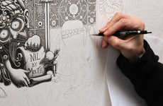 Intricately Inked Walls - This Wall Decal by Artist Joe Fenton is Wickedly Detailed