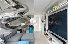 Mirrored Indoor Slide Abodes