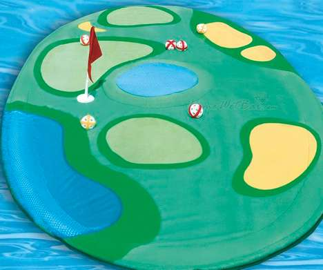 Mini Putt Pool Floats - Get the Island Golf Set for a Refreshing Game of Pool Golf