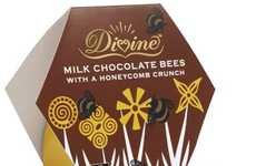 Co-op-Made Honeycomb Crunches - Divine's Milk Chocolate Bees is the Result of a New Partnership