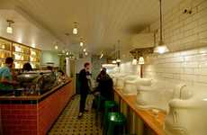 The Attendant London Cafe Transforms Restroom into Restaurant