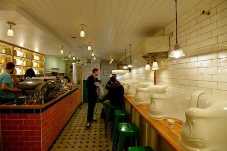 Public Toilet Diners - The Attendant London Cafe Transforms Restroom into Restaurant