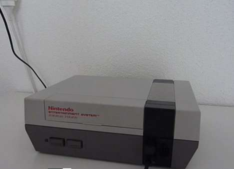 Revamped Old School Consoles - The NES Console Gets Redesigned with a Built-in Screen