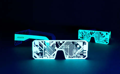 Glowing Paper-Made Spectacles - The Nordik Impakt Festival is Being Promoted With Neon Paper Shades (TrendHunter.com)