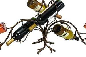 This Decorative Wine Bottle Rack is Elegant and Graceful