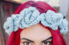DIY Crocheted Floral Headpieces - These Feminine Headbands are Colorful and Easy-to-Make