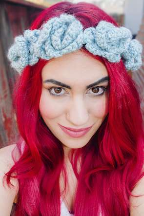 Crocheted Floral Headpieces
