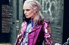 Botanic Biker Femmes - The Vogue Portugal Issue is Visually Enticing and Chic