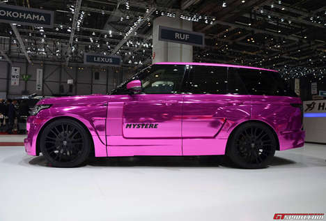 Chromatic Colorful SUV Designs - This Chrome Pink Range Rover by Hamann is Blindingly Bright