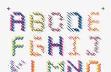 Intricately Threaded Typography