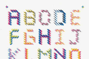 Aries Wan Encourages Readers to Try Embroidery-Based Typography