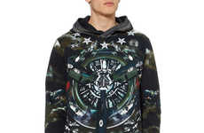 The Givenchy Airplane Print Hoodies are Hip