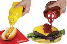 Monster-Shaped Condiment Caps - The Ketchup Kritter and Mustard Monster Tops are Fun and Wacky