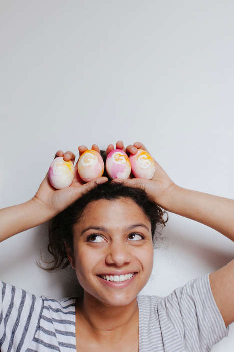 DIY Artful Eggs - The Oh Happy Day Blog Shows How to Create Eggs with Flair