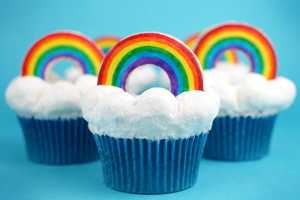 The Rainbow Bright Cupcakes Feature an Assortment of Colors