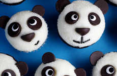 Smiling Faux Mammal Desserts - The Easy Little Pandas Treats Feature Animal Faces