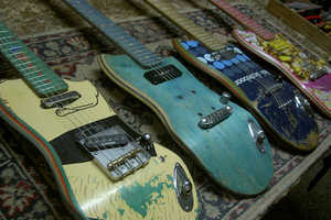 Ezequiel Galasso Creates New Guitars from Old Skateboard Decks