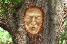 The Keith Jennings Wood Carvings Depict Faces and Emotions