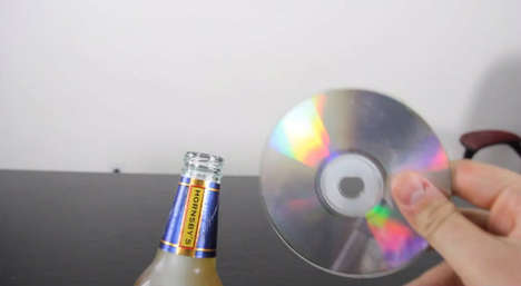CD bottle opener