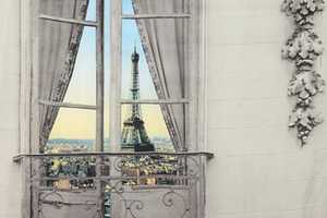 The Paris Window Tapestry Provides a Faux Eiffel Tower View