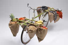 The 'Bamgoo' Bicycle Attachment by Sara Urasin can Carry Groceries