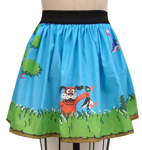 Retro Video Game Skirts - This Duck Hunt-Inspired Ensemble Features the Old School 8-Bit Game