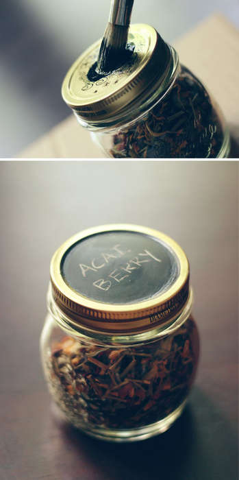 Reusable Chalkboard Tea Canisters - These Containers Make for the Perfect DIY Mother