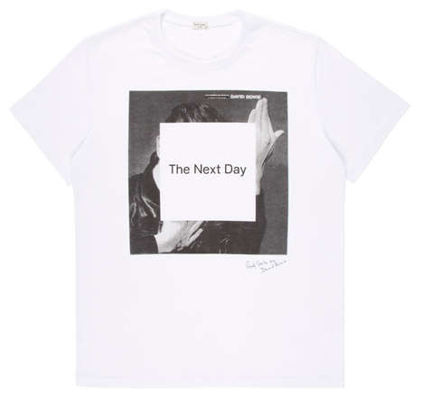 Imortalized Icon T-Shirts - Paul Smith Designs a David Bowie T-shirt to Coincide with His New Album