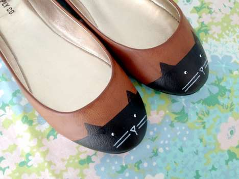 DIY Kitty Accented Shoes